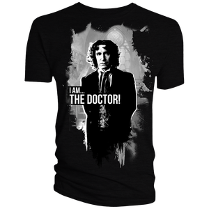 [Doctor Who: Anniversary Collection: T-Shirt: The Eighth Doctor (Black & White) (Product Image)]