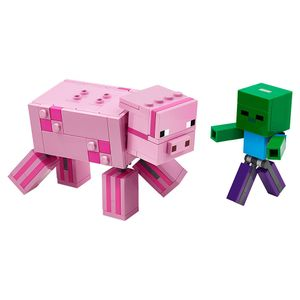 [LEGO: Minecraft: BigFig Pig With Baby Zombie (Product Image)]