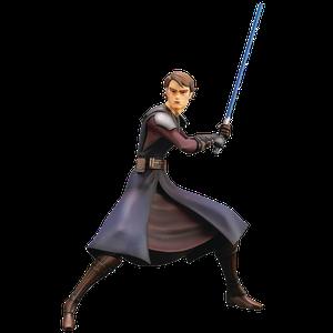 [Star Wars: The Clone Wars: ArtFX+ Statue: Anakin Skywalker (Product Image)]