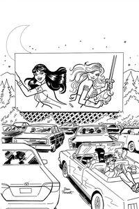 [Red Sonja & Vampirella Meet Betty & Veronica #9 (Parent B&W Virgin Variant) (Product Image)]