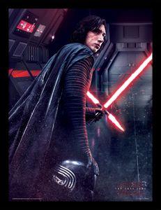 [Star Wars: The Last Jedi: Framed Print: Kylo Ren Rage (Product Image)]