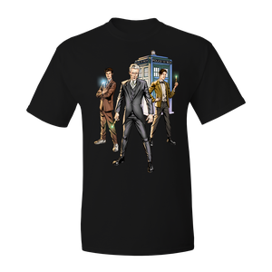 [Doctor Who: T-Shirt: The Four Doctors #5 By Neil Edwards (Product Image)]