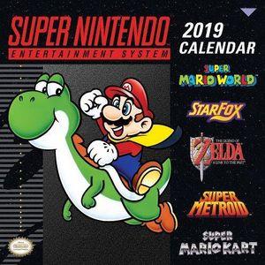 [Super Nintendo: Wall Calendar 2019: Retro Art (Product Image)]