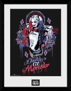 [DC: Suicide Squad: Framed Print: Harley Daddy's Li'l Monster (Product Image)]