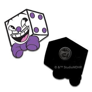[Cuphead: Enamel Pin Badge: King Dice (Product Image)]