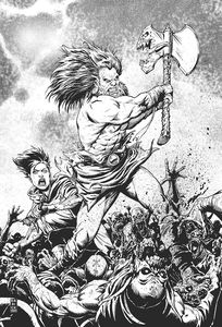 [Barbaric #1 (Cover H Robertson Black & White Virgin Variant) (Product Image)]