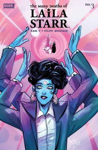 [Many Deaths Of Laila Starr #3 (Cover D Unlockable Ando Virgin Variant) (Product Image)]