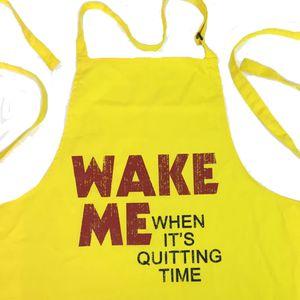 [Moon: Apron: Wake Me Slogan (Product Image)]