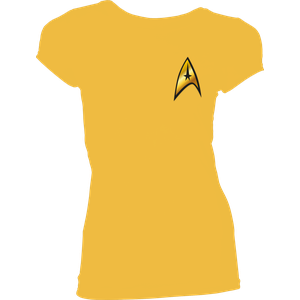 [Star Trek: Women's Fit T-Shirt: Command Costume (Product Image)]