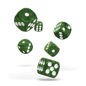 [Oakie Doakie Dice: D6 Dice 12 Set: Marble Green (Product Image)]