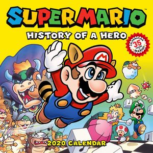 [Super Mario Retro 2020 Wall Calendar: History Of A Hero (Product Image)]