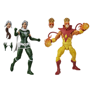 [X-Men: Marvel Legends Action Figure 2-Pack: Rogue & Pyro (Product Image)]