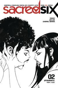 [Sacred Six #2 (Lee Black & White Variant) (Product Image)]