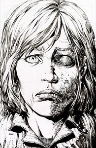 [Walking Dead: Deluxe #12 (2nd Printing Cover B Finch Raw Variant) (Product Image)]