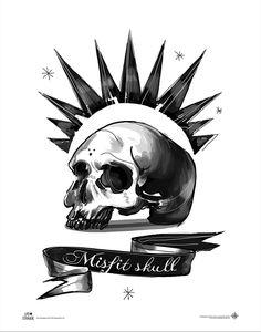 [Life Is Strange: Art Print: Misfit Skull 11x14 Art Print (Product Image)]