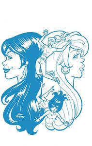 [Red Sonja & Vampirella Meet Betty & Veronica #10 (Parent Blue Tint Variant) (Product Image)]
