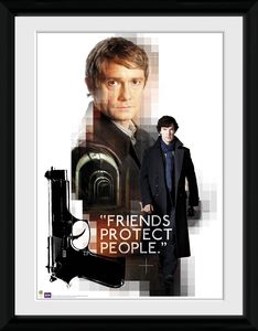 [Sherlock: Framed Print: Friends Protect (Product Image)]