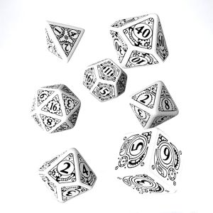 [Q-Workshop: White & Black Dice Set: Steampunk (Product Image)]