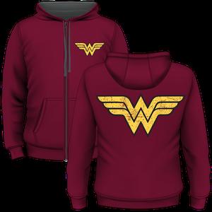 [DC: Zipped Hoodie: Wonder Woman (Product Image)]
