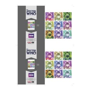 [Doctor Who: 4th Doctor: Psychedelic Greetings Card (Product Image)]