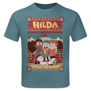 [Hilda: Children's T-Shirt: Hilda & Friends (Indigo Blue) (Product Image)]