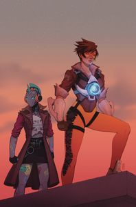 [Overwatch: Tracer: London Calling #4 (Cover B Bartel) (Product Image)]