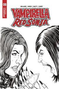 [Vampirella/Red Sonja #8 (Moss B&W Variant) (Product Image)]