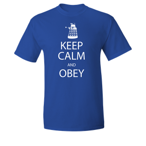 [Doctor Who: T-Shirt: Keep Calm & Obey (Product Image)]