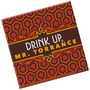 [The Shining: Glass Coaster: Drink Up (Product Image)]