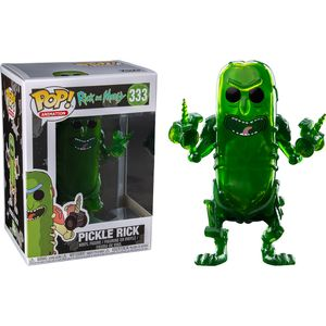 [Rick & Morty: Pop! Vinyl Figure: Translucent Pickle Rick (Product Image)]