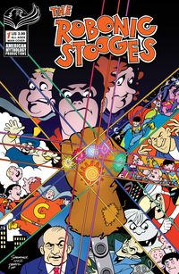 [The cover for Robonic Stooges Return #1 (Cover A Shanower)]