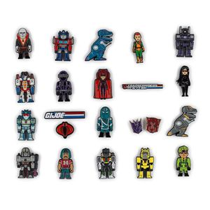[Kidrobot: Enamel Pin Series: Transformers Vs GI Joe (Product Image)]
