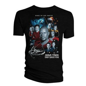 [Star Trek: Deep Space Nine: T-Shirt: The Crew & Badge (Product Image)]