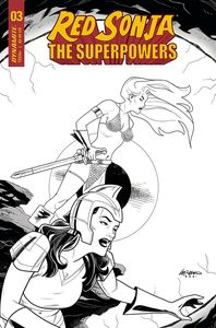 [Red Sonja: The Superpowers #3 (Ferguson Black & White Variant) (Product Image)]