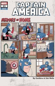 [Captain America #23 (Gurihiru Heroes At Home Variant) (Product Image)]