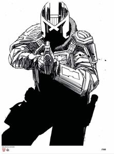 [Dredd: Underbelly: Giclee Print: B&W Edition (Signed) (Product Image)]