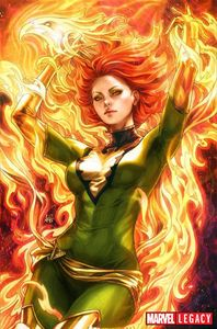 [Phoenix Resurrection #1 (Artgerm Green Virgin Variant) (Product Image)]