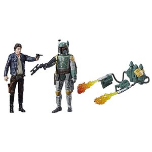 [Star Wars: Deluxe Figure Action Figure 2-Pack: Han Solo & Boba Fett (Product Image)]