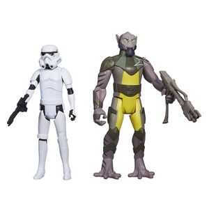 [Star Wars: Rebels: Mission Series: Wave 1 Action Figure: Zeb And Stormtrooper (Product Image)]