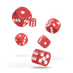 [Oakie Doakie Dice: D6 Dice 12 Set: Marble Red (Product Image)]