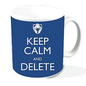 [Doctor Who: Mug: Keep Calm & Delete (Product Image)]