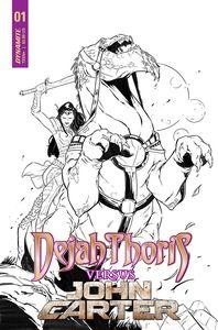 [Dejah Thoris Vs John Carter Of Mars #1 (Cover F Miacolo Line Art Variant) (Product Image)]