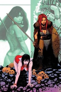 [Vampirella/Red Sonja #10 (Moss Virgin Variant) (Product Image)]