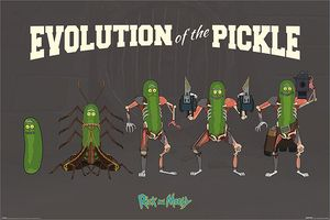 [Rick & Morty: Poster: The Evolution Of Pickle Rick (Product Image)]