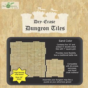 [Dry-Erase Dungeon Tiles: Combo Pack Of 5x10 & 16x5 Squares (Sand Colour) (Product Image)]
