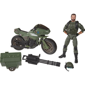 [GI Joe: Classified Series Action Figure: Alvin 'Breaker' Kinney With RAM Cycle (Product Image)]