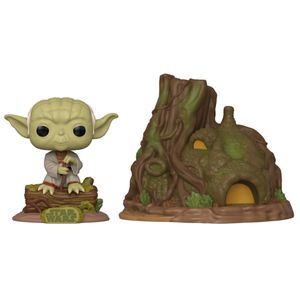[Star Wars: The Empire Strikes Back: Pop! Town Bobblehead: Dagobah Yoda With Hut (Product Image)]