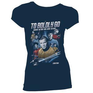 [Star Trek: The Original Series: Women's Fit T-Shirt: The Crew & Badge (Product Image)]