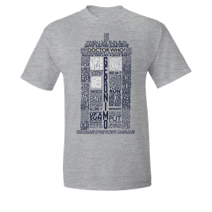 [Doctor Who: T-Shirt: Iconic Quotes (Product Image)]