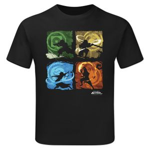 [Avatar The Last Airbender: Children's T-Shirt: Benders Of The Elements (Product Image)]